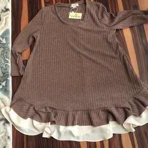 Lolo by New Directions Brown Blouse Size Small